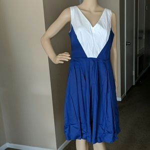 ANNE KLEIN V Neck DRESS Sleeveless Color B…
